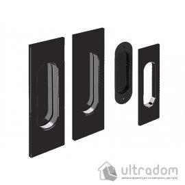 Ручки - ракушки для раздвижных дверей Valcomp прямоугольные, черные