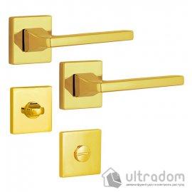 Дверная ручка ROSTEX KIRA H56 mov-mov WC латунь полированная