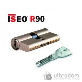Цилиндр дверной ISEO R90 кл-кл, матовый хром 75 мм