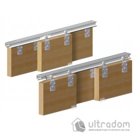 Valcomp HORUS комплект подвесной системы для 3-х раздвижных дверей шкафа-купе
