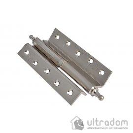 Стальные угловые петли с декором Imperial 125 мм. , SN - матовый никель