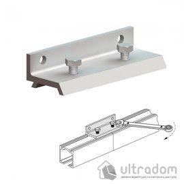 Настенный крепеж для соединения 2-х направляющих рельс Valcomp Н2, двери до 25 мм