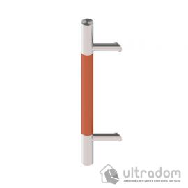 Дверная ручка-скоба Wala P45D Ø40 мм нерж. сталь с деревянной вставкой под углом 45° односторонняя