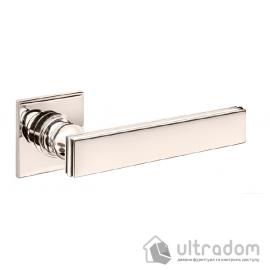 Дверная ручка DND by Martinelli LUCREZIA 02 на квадратной розетке R  полированный никель